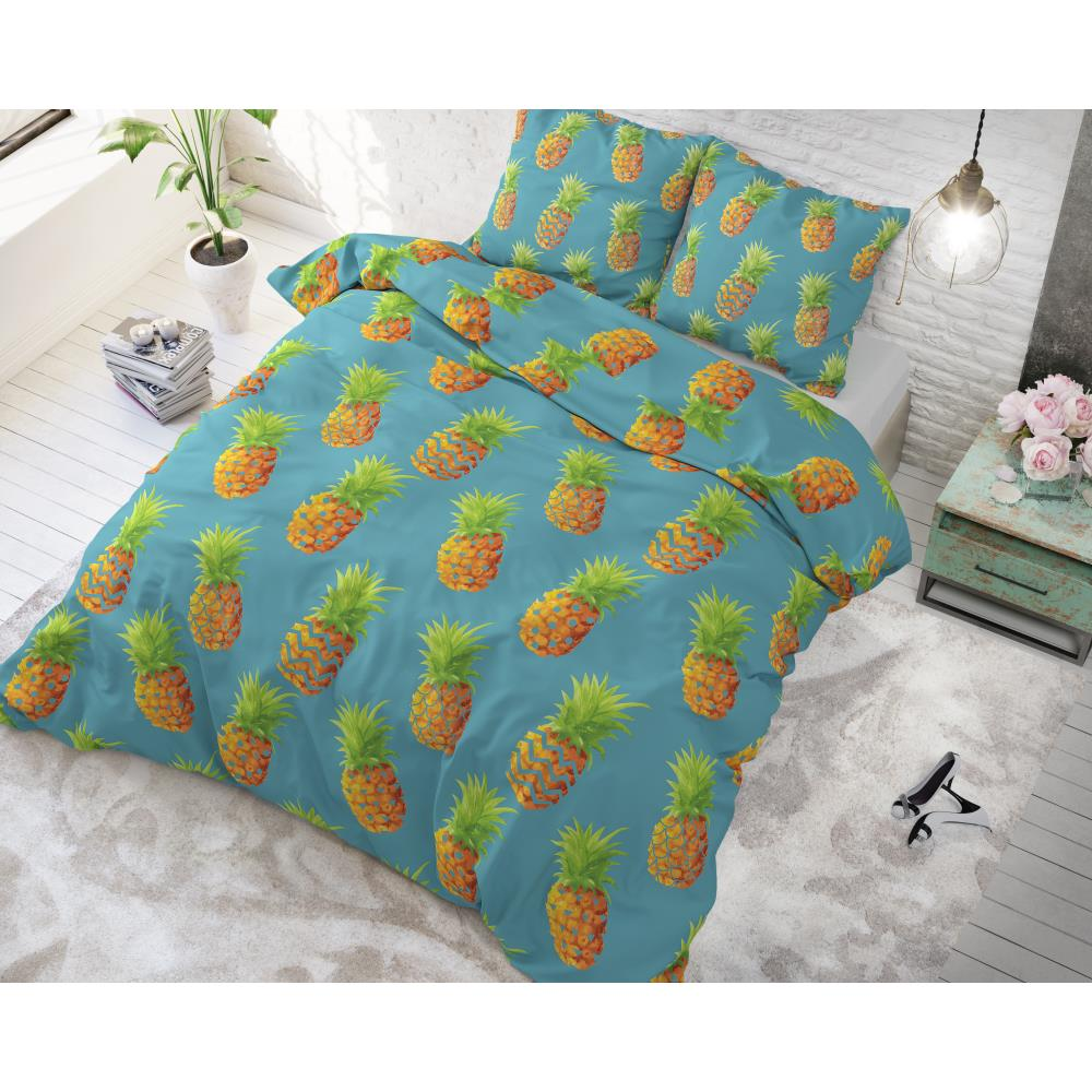 Pineapples Blue voodipesu komplekt 135 x 200