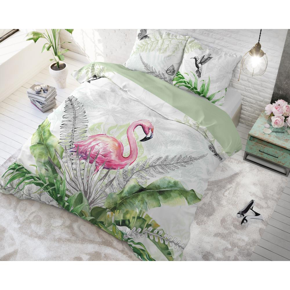 Flamingo Splash White voodipesu komplekt 200 x 220